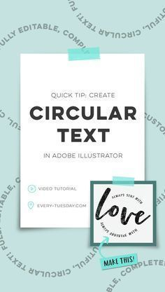 Quick Tip: Create Circular Text in Adobe Illustrator - Every-Tuesday
