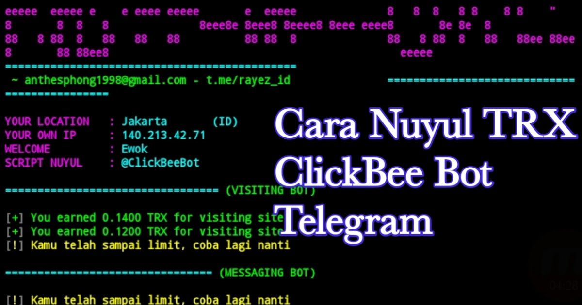 Cara Nuyul Trx Clickbee Bot Telegram Terbaru Blog Belajar Trx