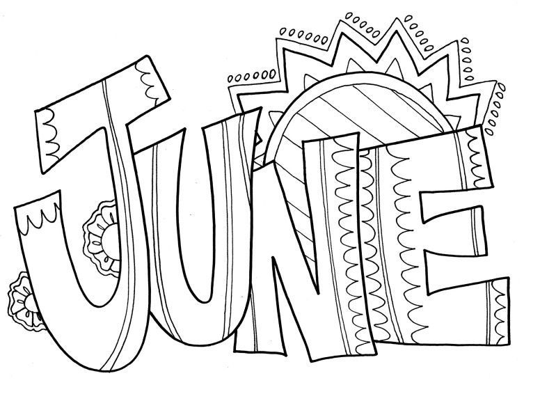 June Coloring Pages Best Coloring Pages For Kids Summer Coloring Pages Coloring Pages Coloring Pages To Print