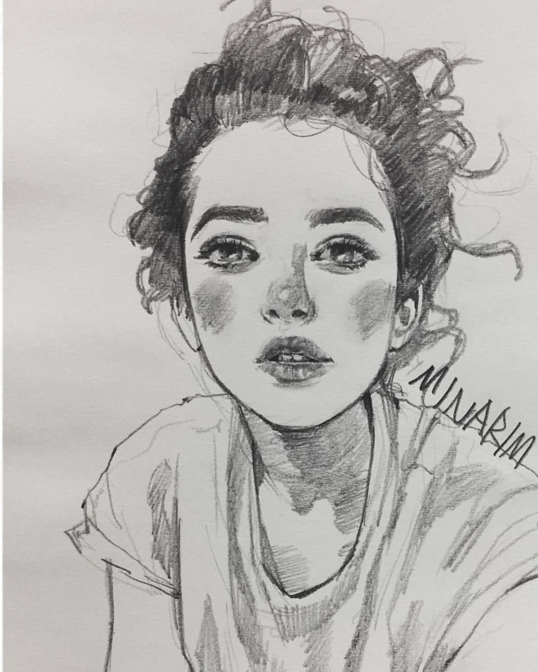 4 026 Likes 15 Comments Minarim On Instagram Daily Drawing Art Artist Arte Artwork Drawing Illustrat Art Sketches Art Girl Drawing Sketches