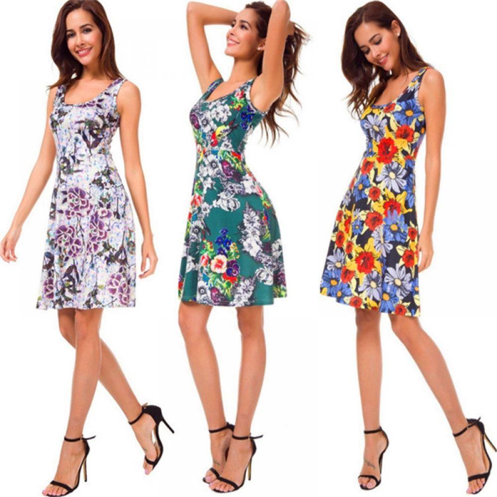 High Quality New Summer Holiday Fashion Ladies Floral Print Sleeveless Dress  Price: $ 21.95 & FREE Shipping   #picoftheday #vacation #summertime #sky #surfing #bikini #holiday #islandlife #island #california #beachbum #happy #sunshine #fashion