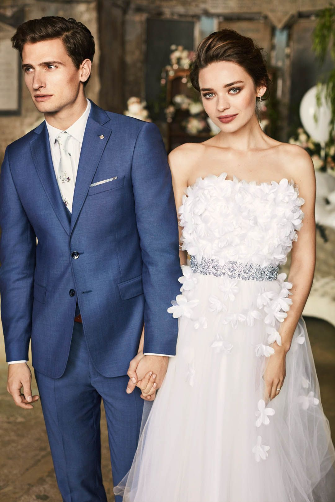 a5801a03a743 YOUR BIG DAY  Ted s vintage-inspired SAMTA wedding gown is fun and playful