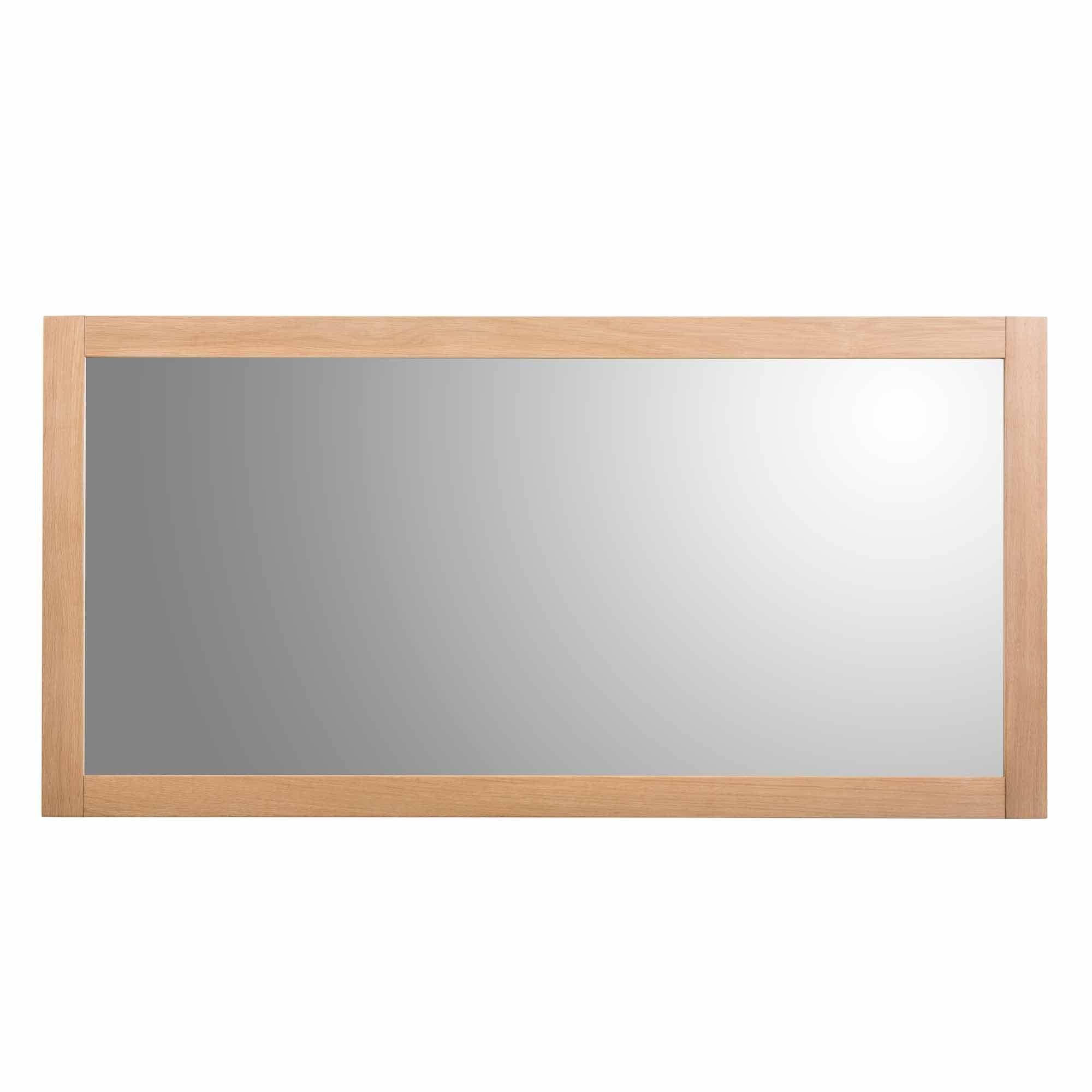 miroir mural rectangulaire en chene