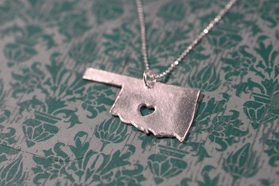 Heart in Oklahoma necklace