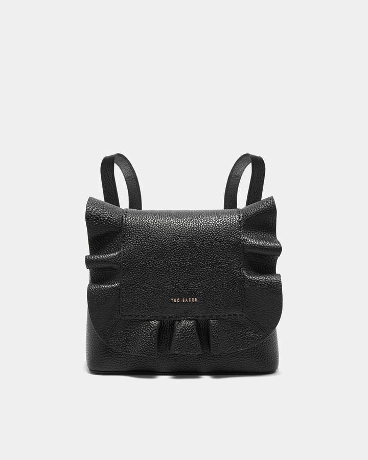 3dd4bcc81 Ted Baker RAMMIRA Leather ruffle multiway backpack | Products | Bags ...