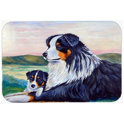 Caroline's Treasures Australian Shepherd Glass Cutting Board