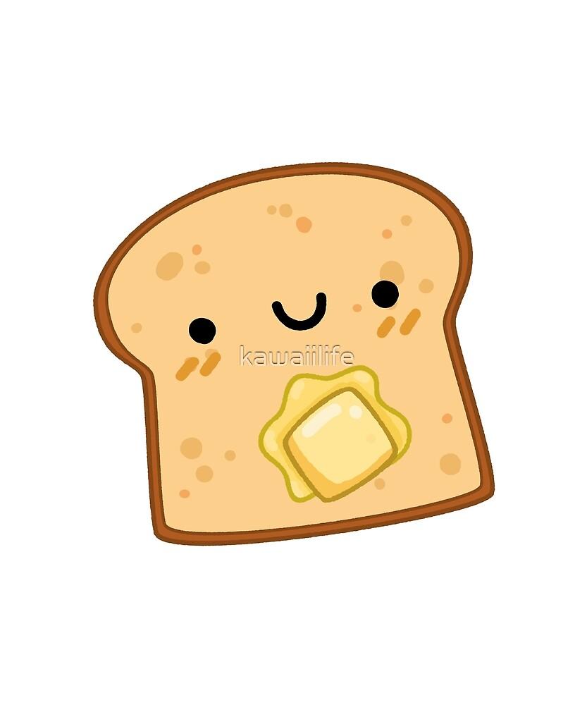 'Kawaii Toast with Butter' Sticker by kawaiilife
