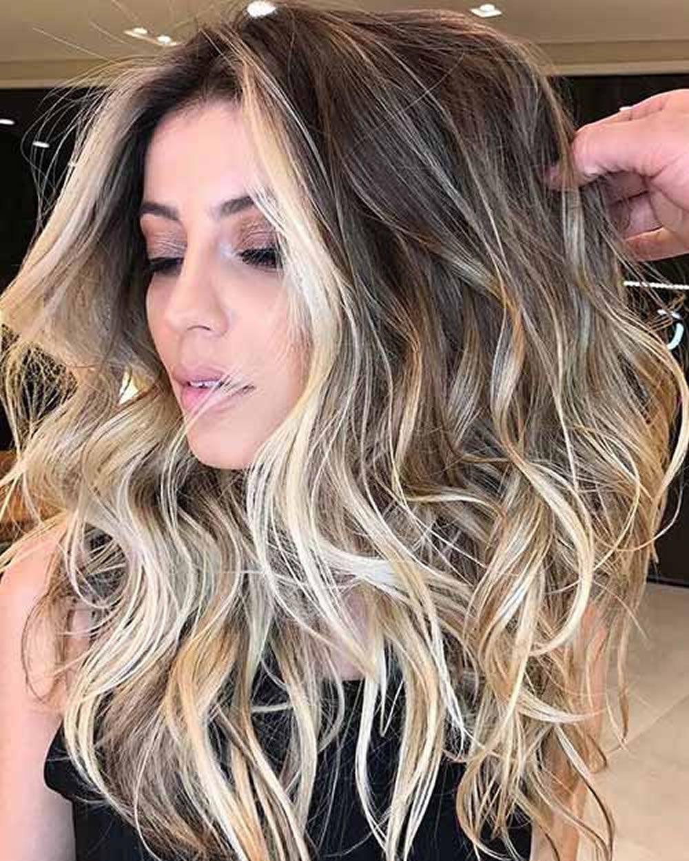 Ombre Highlights Sweep 2018 Dunkel Br 252 Nett Blond Usw