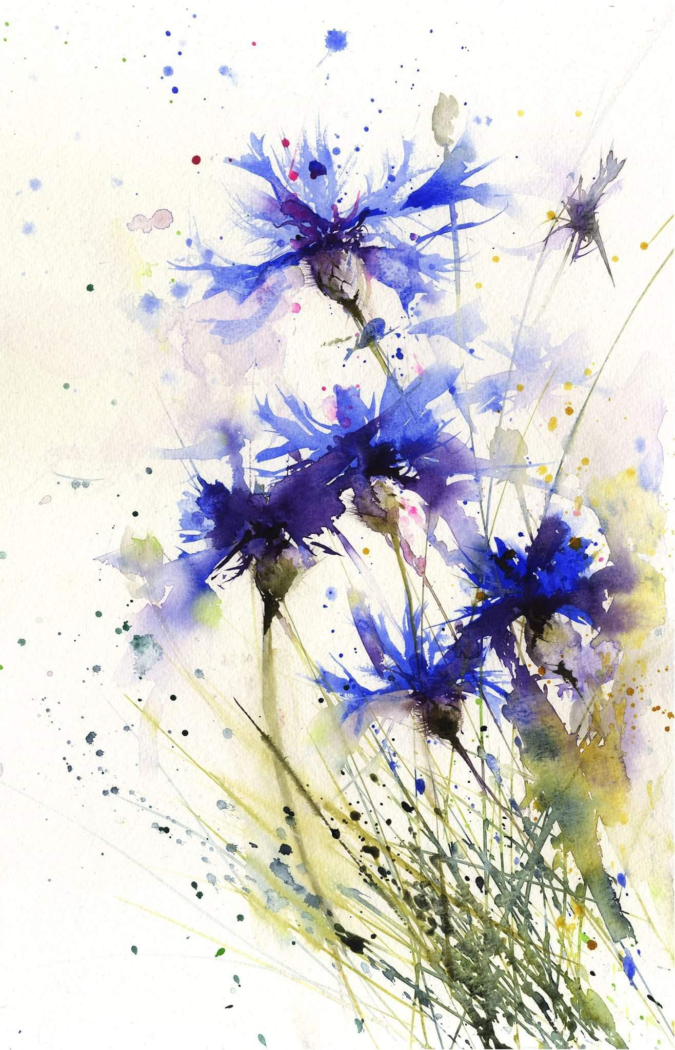 Pin By Stefania On Tattoo Ideas Watercolor Flowers Paintings Flower Painting Watercolor Flowers