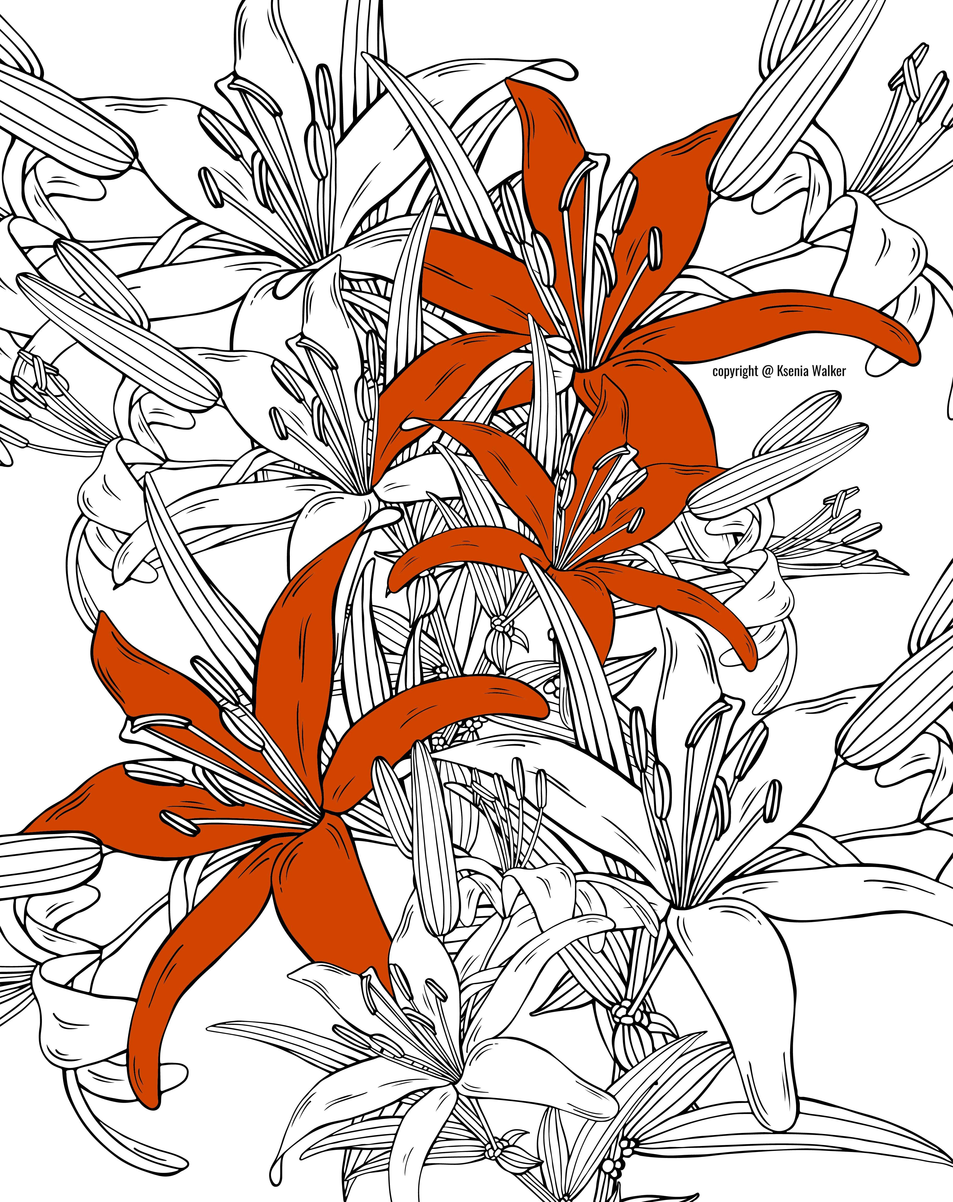 Famous Coloring Page Of Flower Ensign - Drawing Coloring ...