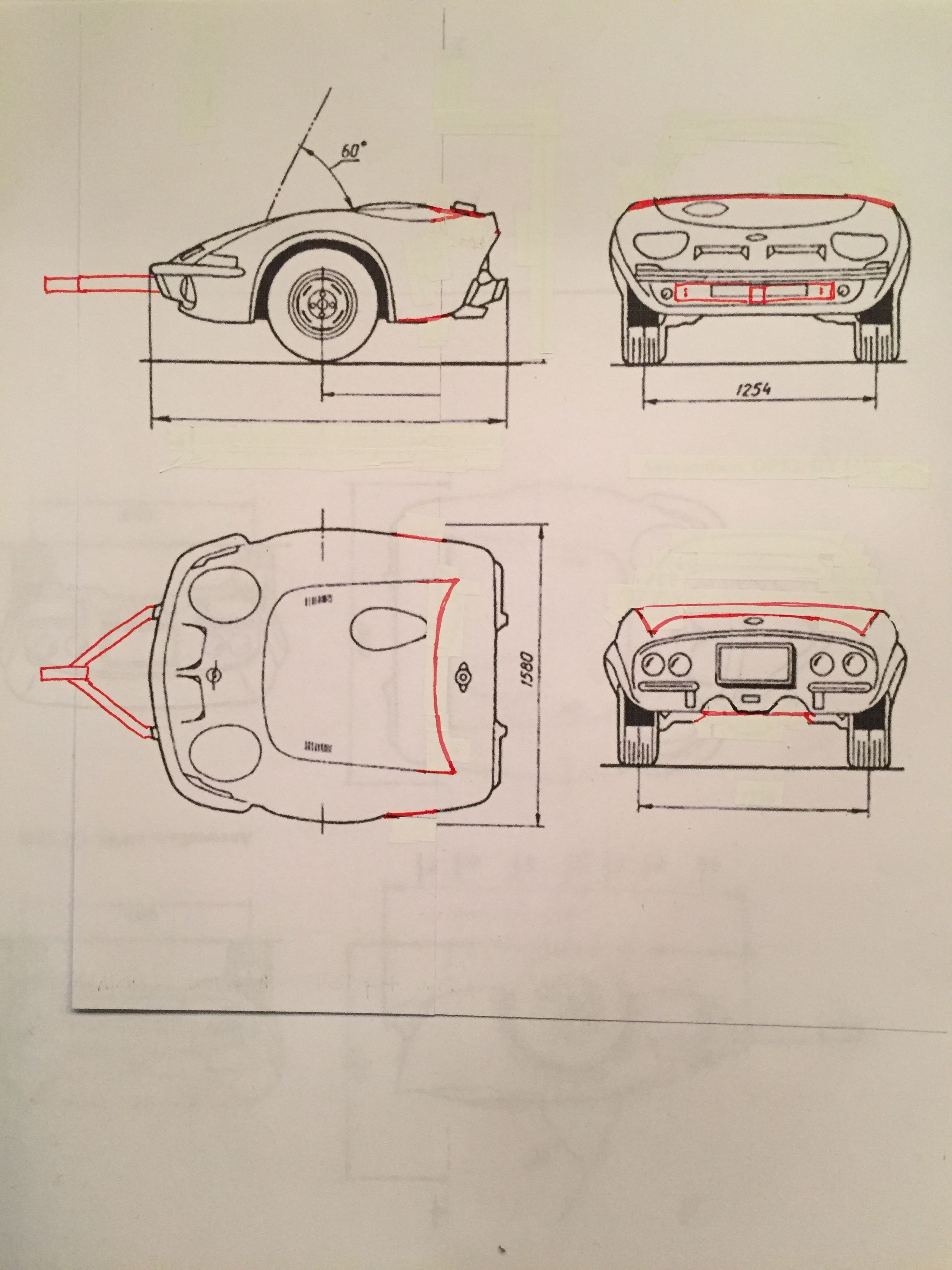 My idea for an Opel GT trailer: use the front axle. Cut at the firewall and  graft on the kamm tail. One of my parts cars doesn't have floors, so.