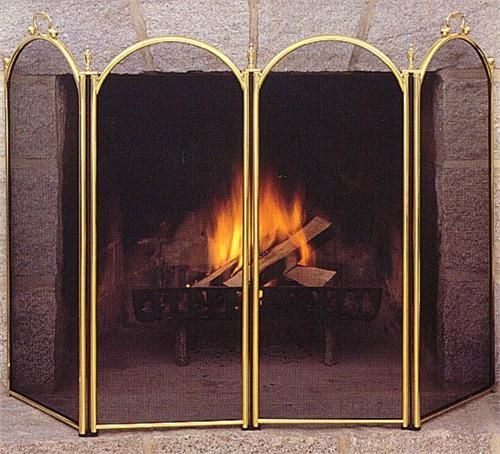 Traditional Fireplace Screen.