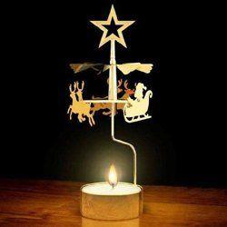 Topseller Brass Christmas Carousel Original Swedish Angel Chimes Xmas Decoration Tealight Hol Christmas Tree Inspiration Christmas Angels Xmas Decorations