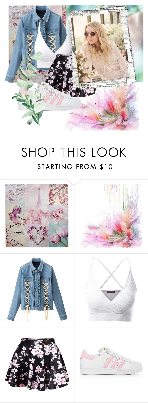 """""""Untitled #146"""" by rcs-show-show1 ❤ liked on Polyvore featuring RyuRyu, Doublju, WithChic, adidas and Jimmy Choo"""