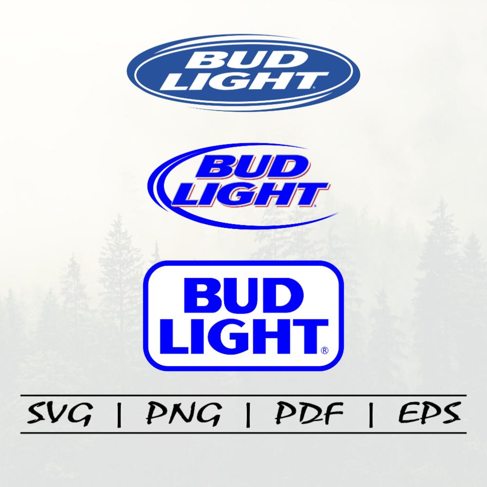 Bud Light Beer Logo Svg Pack Svg Portal Bud Light Beer Beer Logo Bud Light
