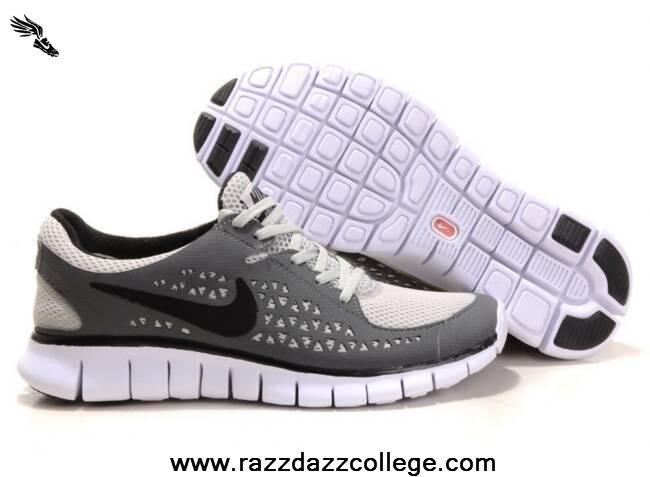 New 395912 011 Mens Nike Free Run Gray Black White Nike Free Nike Free Shoes Black And White Shoes