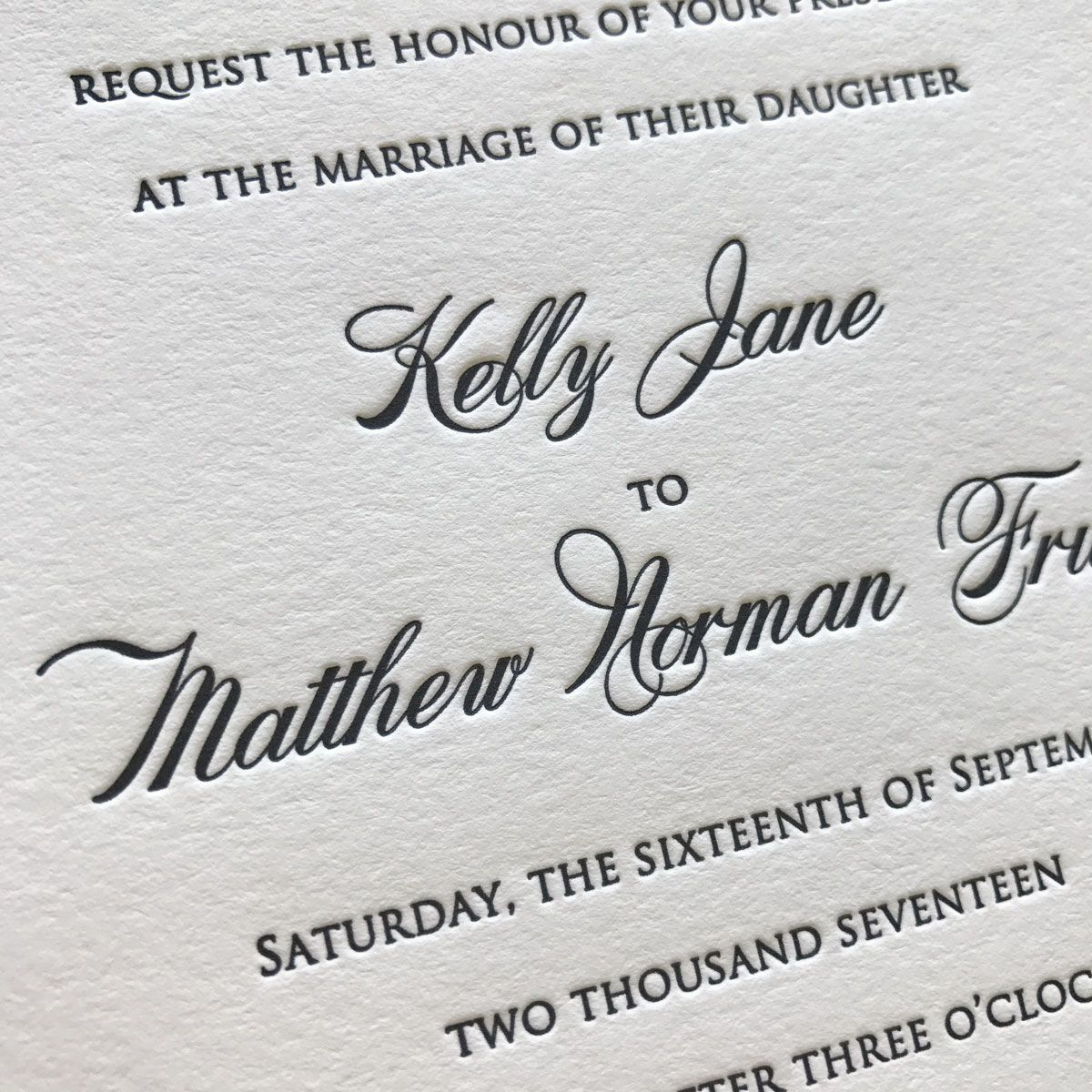 Monogram Letterpress Luxury Wedding Invitation Set Simple ... |Inexpensive Wedding Invitations Letterpress