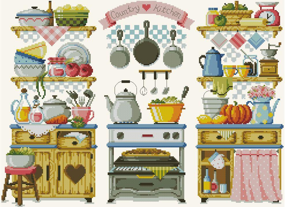 SODA - Country Kitchen | Cocina | Pinterest | Punto de cruz, Puntos ...