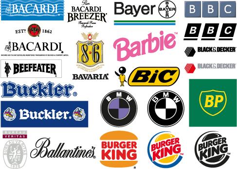 logos y marcas comerciales con la letra b letra b