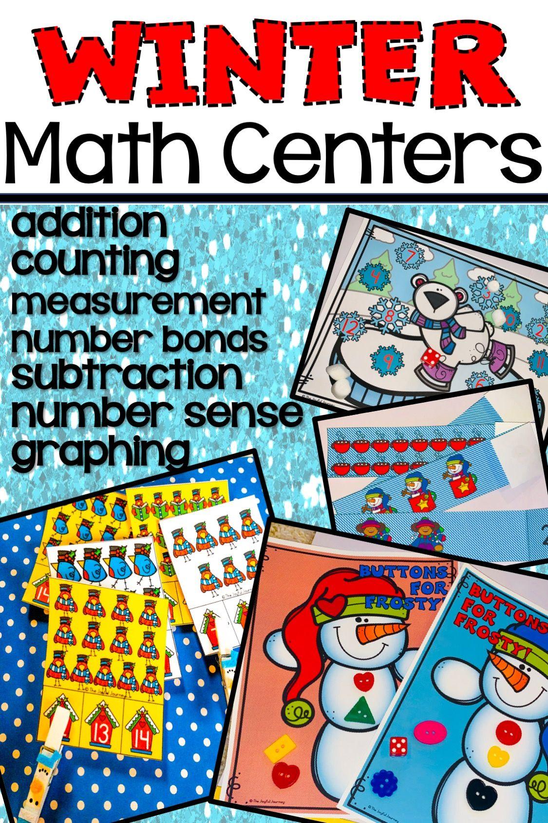 Winter Math Activities Kindergarten Winter math centers