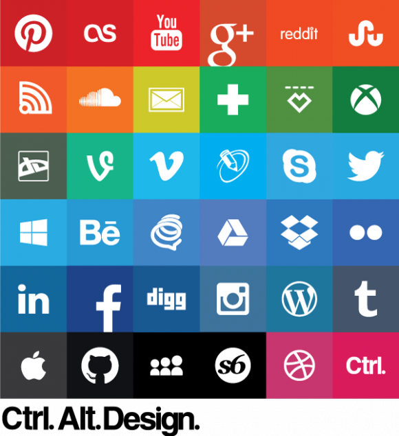 Free Download Social Media Share Icons