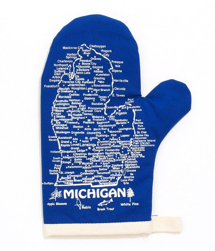 The Henry Ford Michigan Blue Oven Mitt Michigan Blue Blue