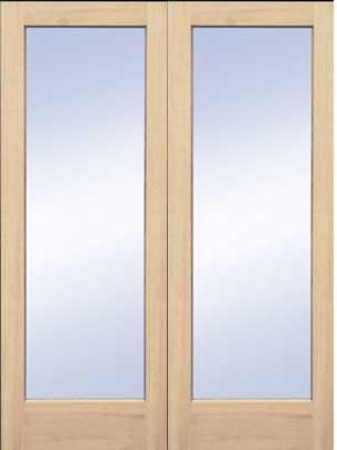 S 293 8 Ft. Tall Maple Full Lite Glass Double (Single Also. Wood Interior  DoorsBedroom ...