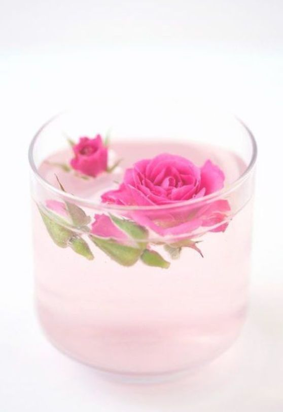 A rosetopped cocktail may look too pretty to actually drink but one taste of this rosewater lemonade thats also infused with vodka will leave you