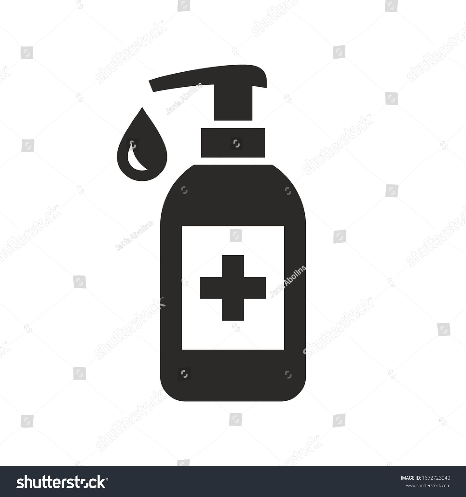 Hand Sanitizer Icon Vector Icon Isolated On White Background Ad Paid Icon Sanitizer Hand Vector Hand Sanitizer Vector Icons Icon