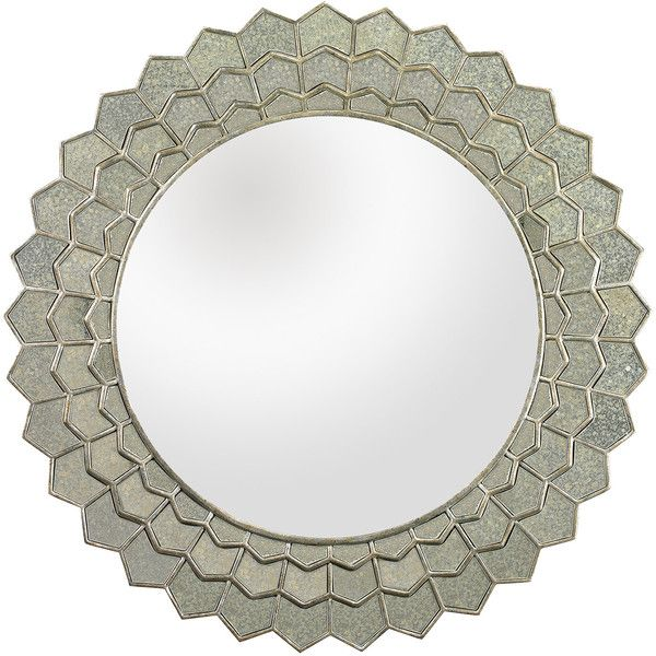 Antique Sunflower Wall Mirror ($622) ❤ liked on Polyvore featuring home, home decor, mirrors, glass home decor, wall mirrors, handmade home decor, wall home decor and antique wall mirrors