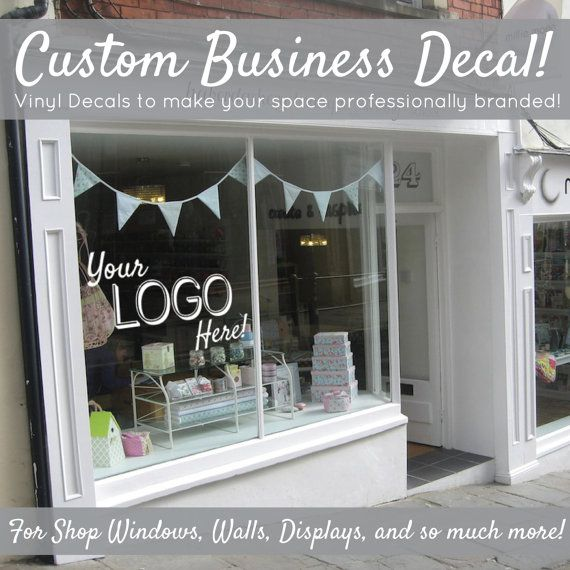 Custom Personalized Professional Business Name And Logo Wall - Custom vinyl decals etsy
