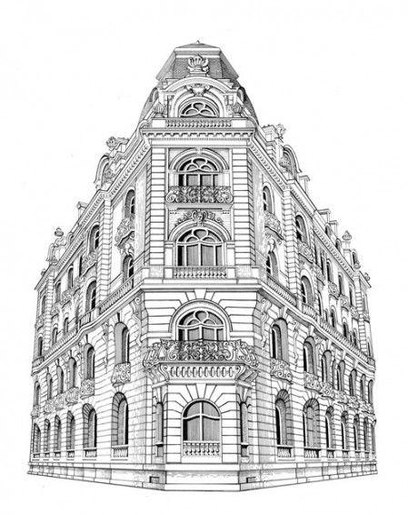 Immeuble Haussmannien Paysages Villes Pinterest Dessin