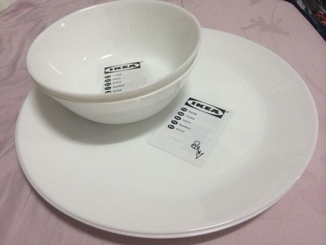 Fantastic Ikea Oftast tempered glass plates and bowls, felt like Corelle  PJ86