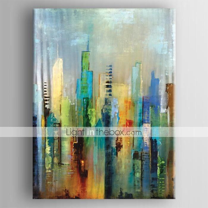 Pintada a mano abstracto vertical modern estilo europeo un for Cuadros verticales modernos