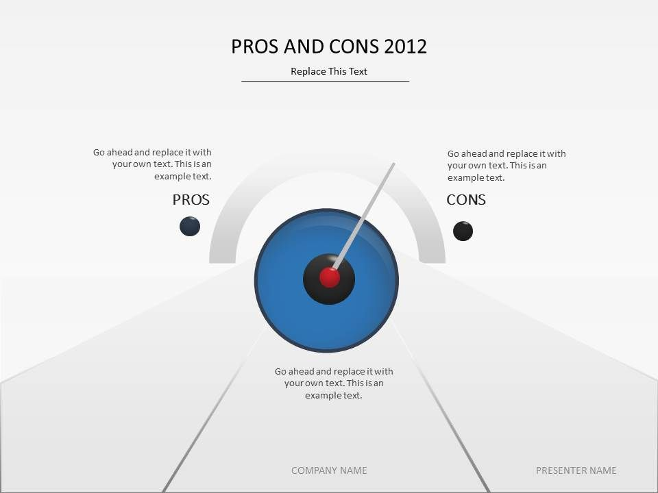 discuss pros and cons with this presentation template #powerpoint, Powerpoint templates