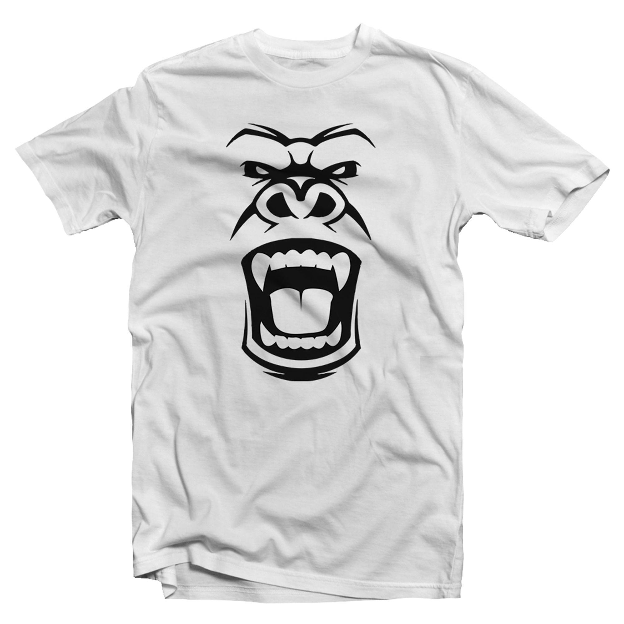 Kids Plain T-Shirts Boys Tops /& Shirt Angry Gorilla