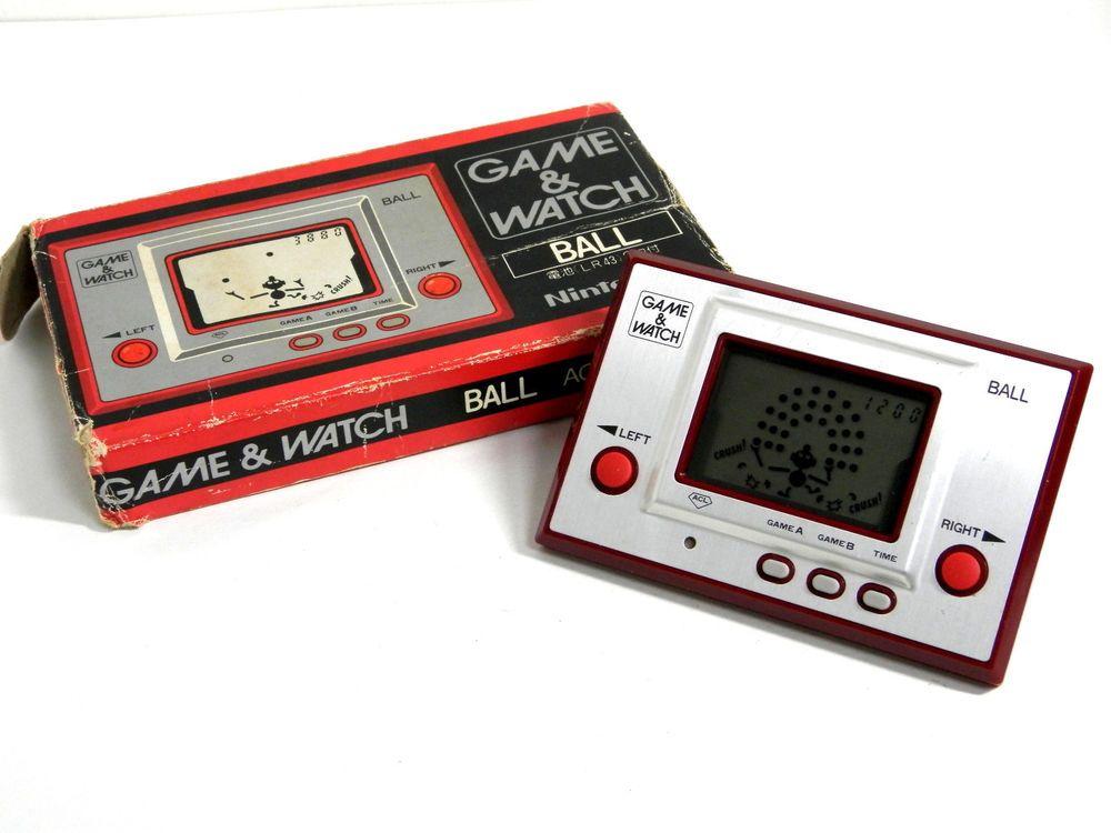 Nintendo Game & Watch Silver Series Ball Original AC-01 1980 Box is damaged F/S #Nintendo