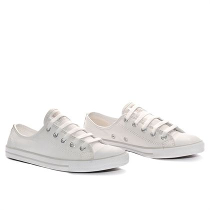 Tenis Converse All Star Ct As Dainty Leather Ox Branco Ce405002