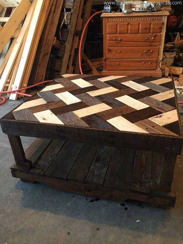 herringbone pallet coffee 625 833 pixels diy pinterest holzm bel tisch und m bel. Black Bedroom Furniture Sets. Home Design Ideas