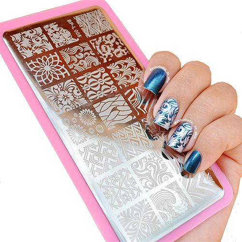 Hot item! Wave Texture Patterns Nail Art Stamp Template Image Plate
