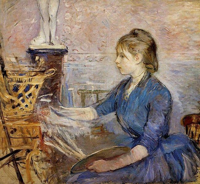 Paule Gobillard Painting, Berthe Morisot. French Impressionist Painter (1841-1895)