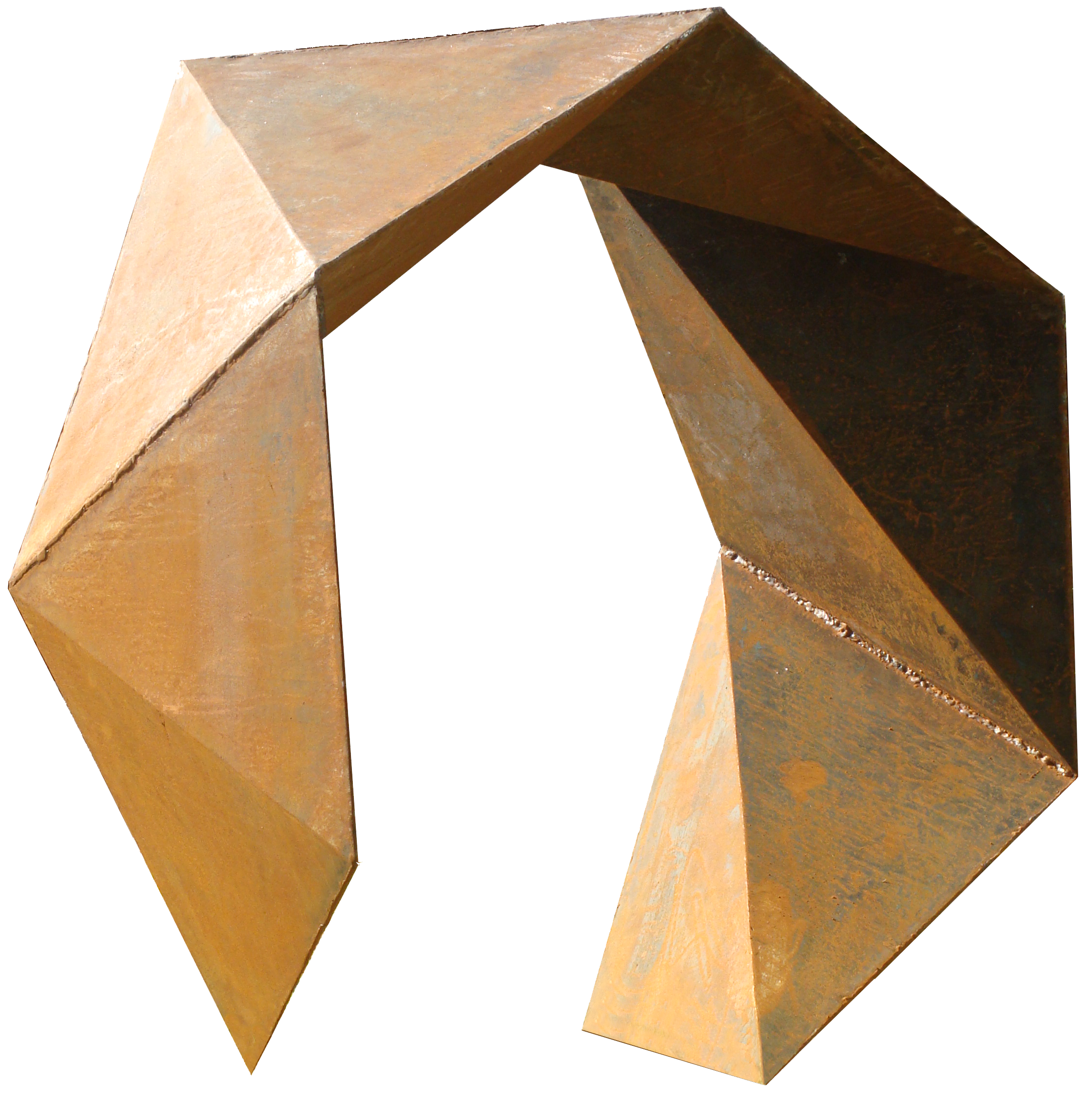 Gilberto Lustosa  Sólido aberto 6 lados,chapa de aço, 90 x 90 x 45 cm, 2011