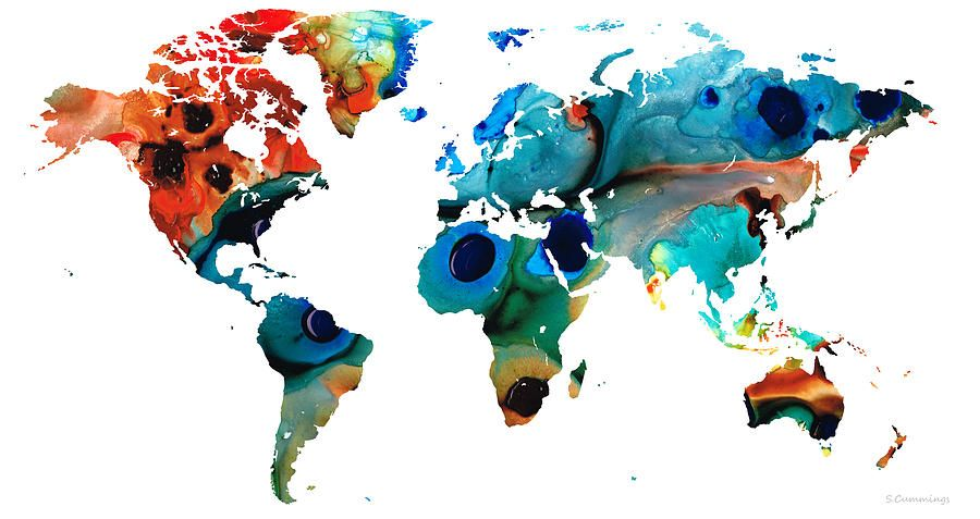 ... World map art, World maps ...
