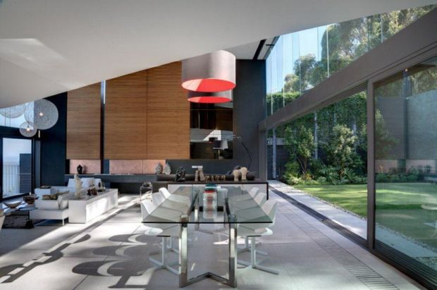 Contemporary-dining-room-living-room