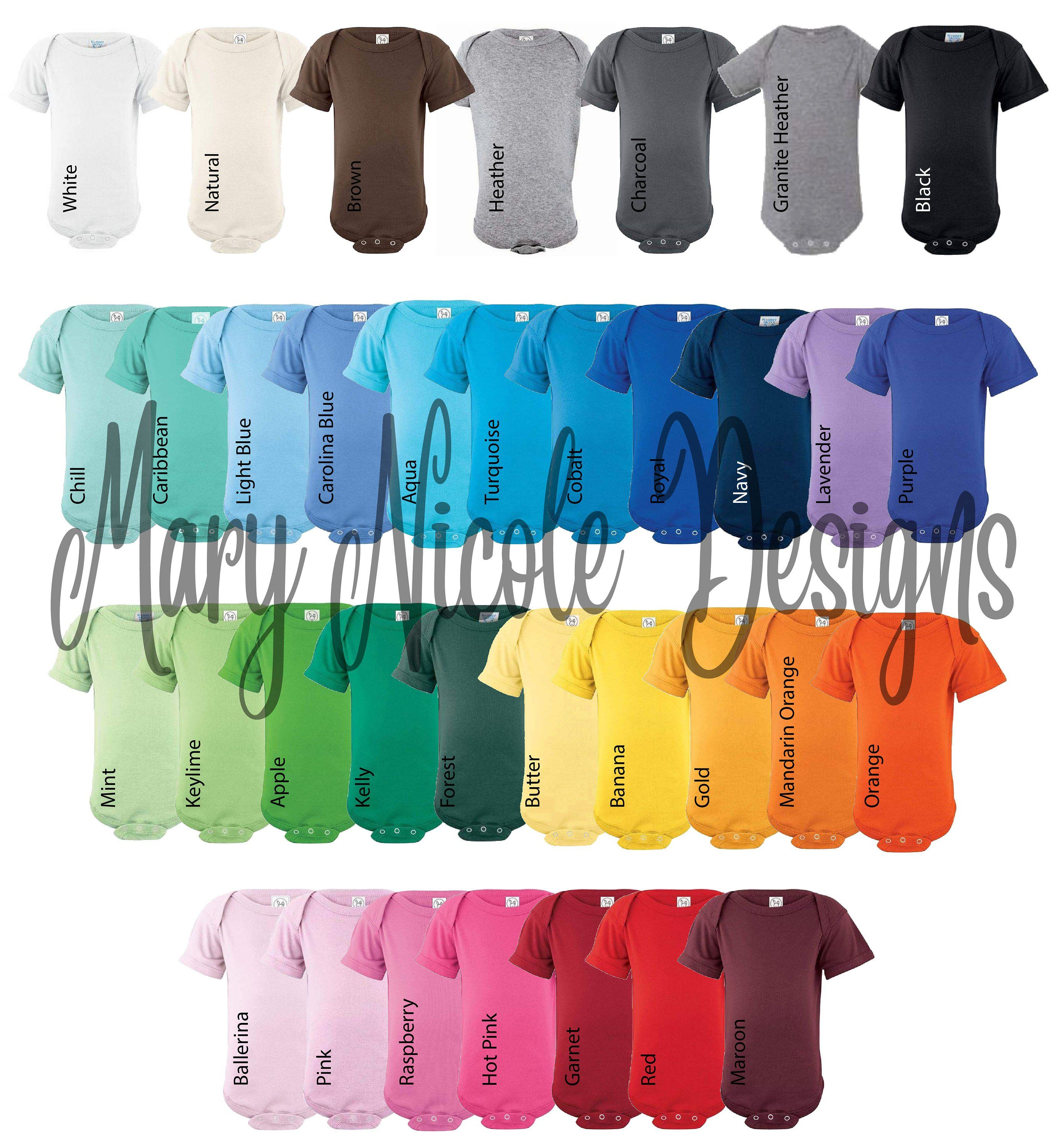Every Color Digital File Shirt Color Chart Rabbit Skins 4400 Bodysuit Color Chart Etsy Color Chart Tshirt C Colorful Shirts Tshirt Colors Color Chart