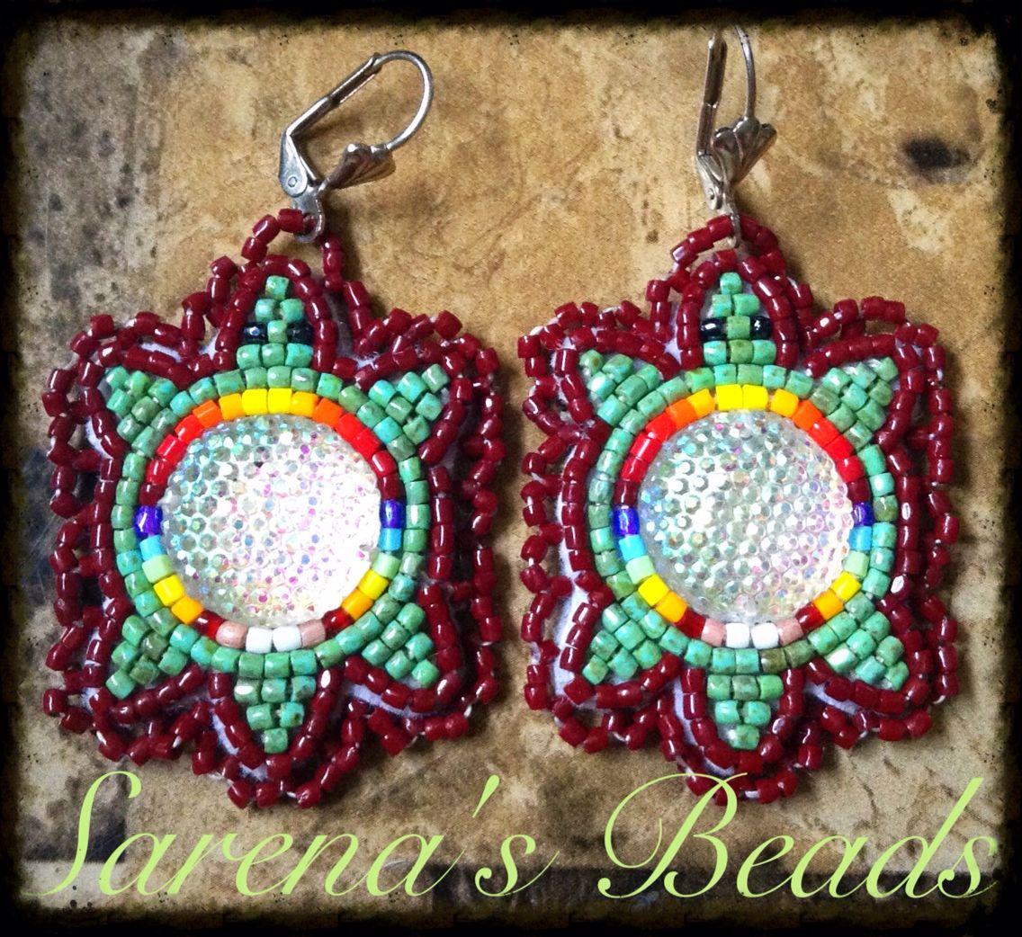 Beaded turtle earrings by Sarena Kingbird | Native ...