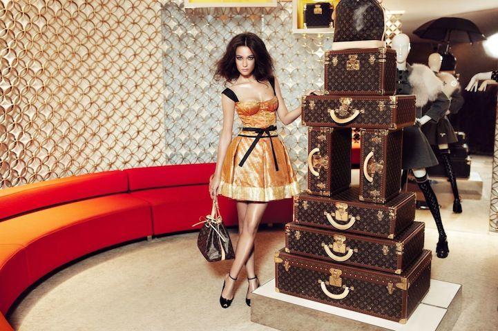 Louis Vuitton Diwali-Themed Sari Dresses #saridress