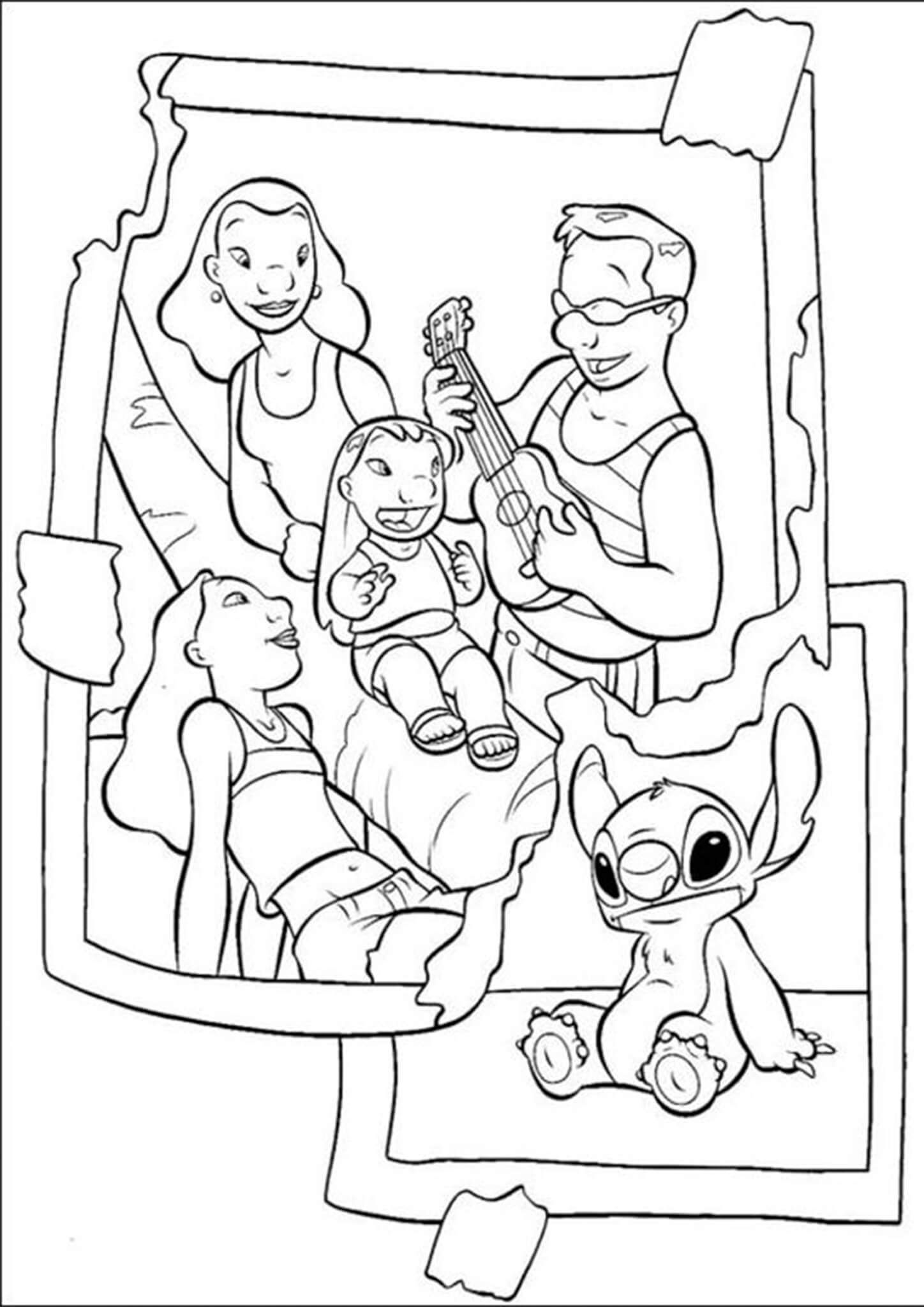 Free Easy To Print Stitch Coloring Pages In 2021 Stitch Coloring Pages Family Coloring Pages Disney Coloring Pages