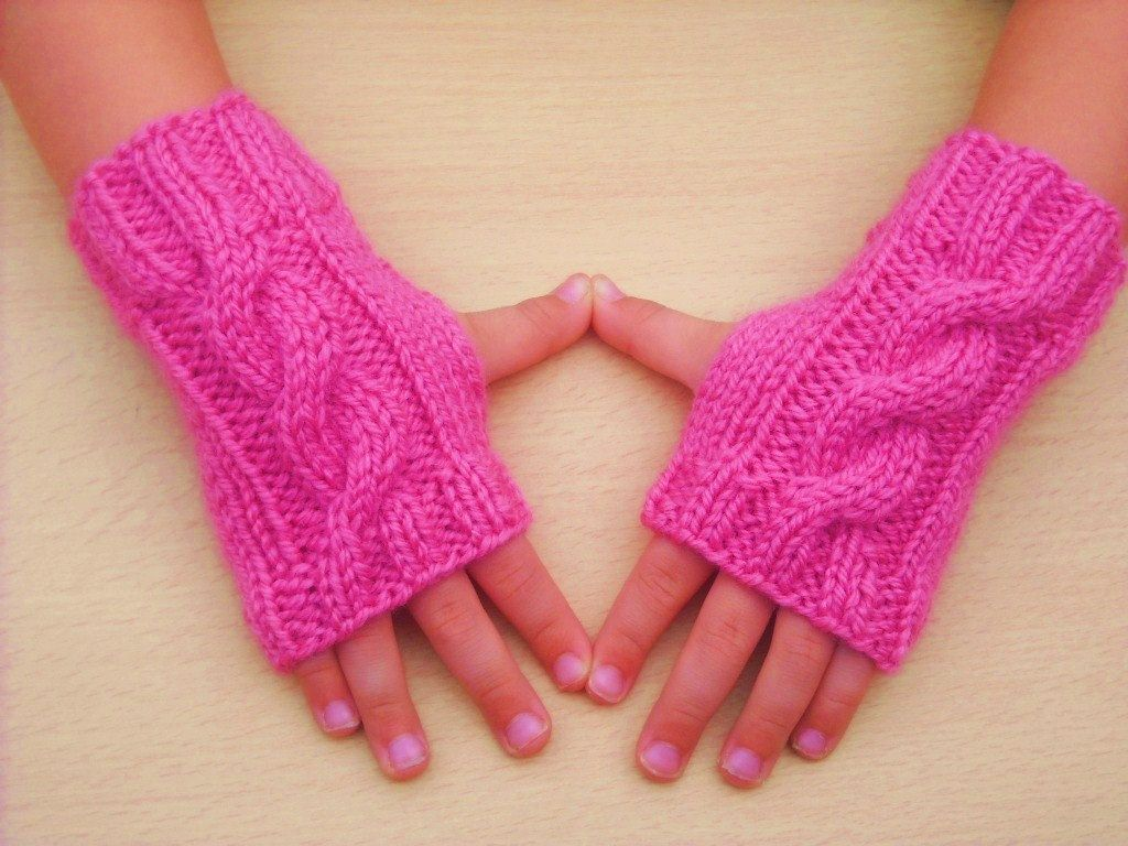 Instant download PDF Knitting Pattern Children\'s Cable Knit Wrist ...