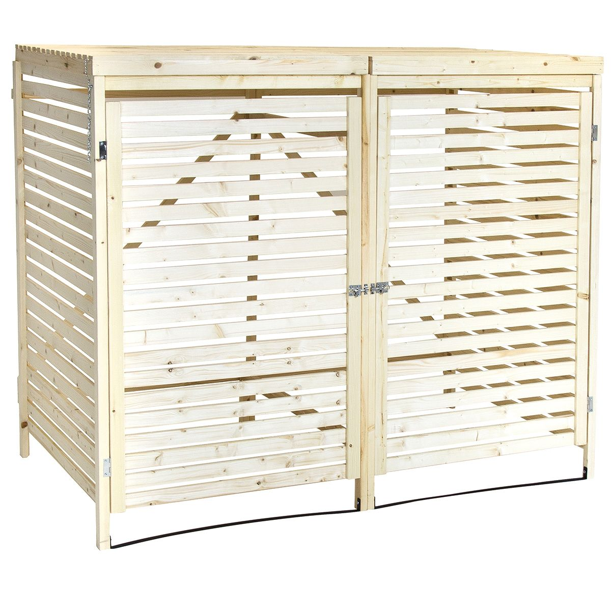 Charles Bentley Double Wheelie Bin Storage Unit - Buydirect4u  sc 1 st  Pinterest & Charles Bentley Wooden Double Wheelie Bin Storage Unit | Bin storage ...